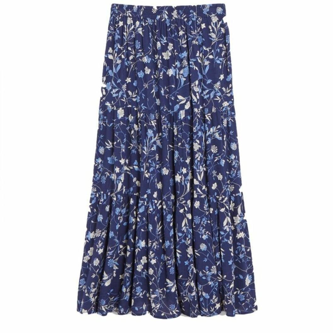 Blå medellång kjol från KappAhl