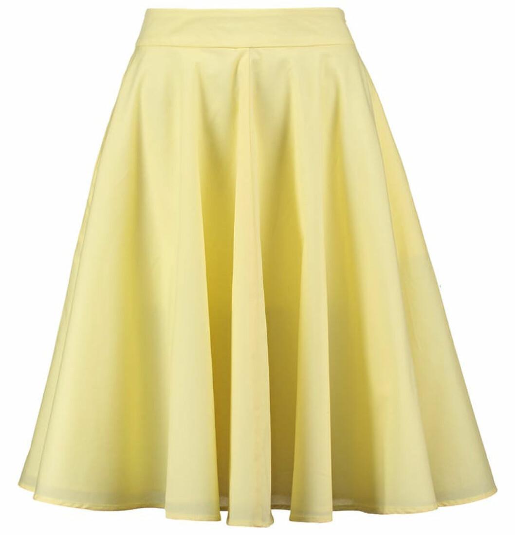 kjol pastell gul