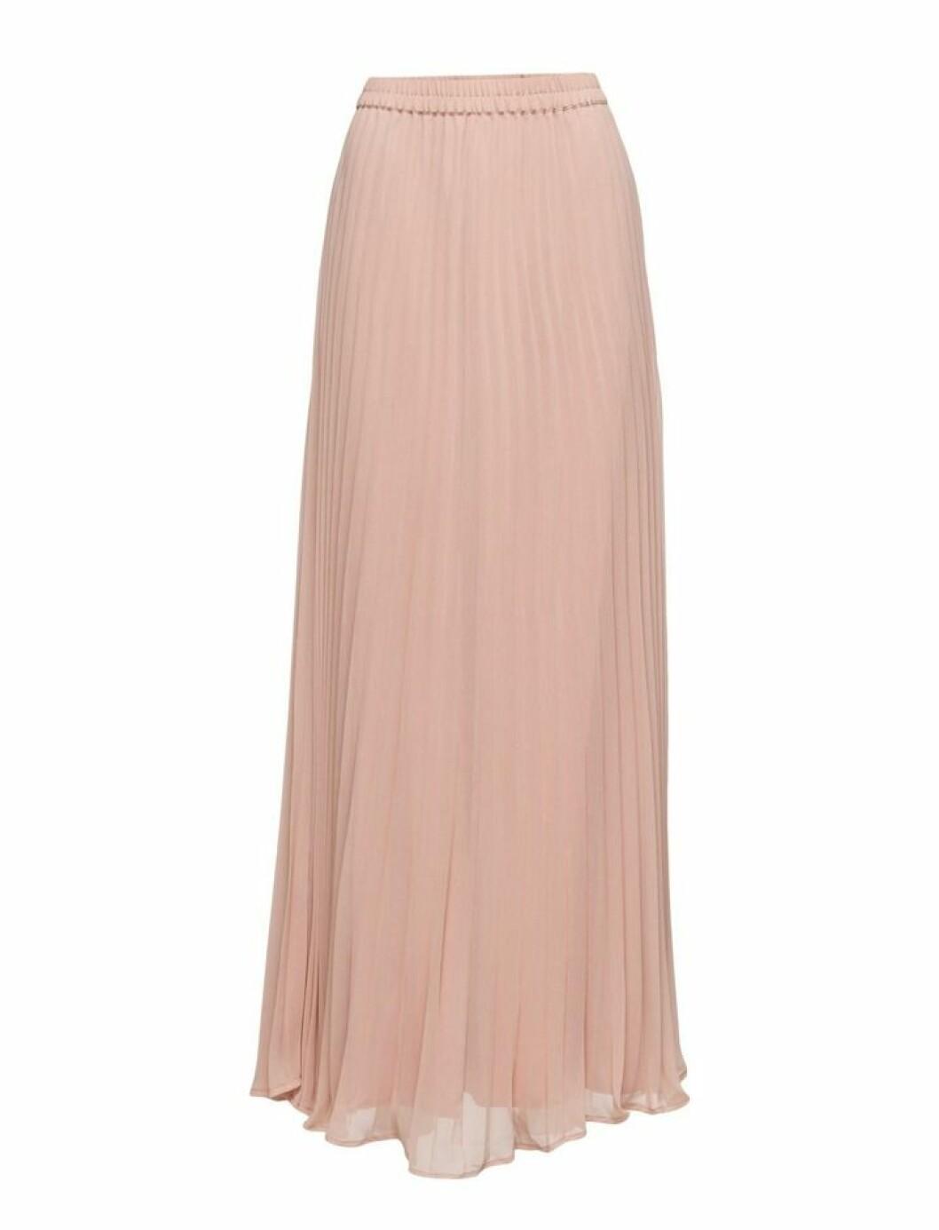 plisserad kjol puderrosa