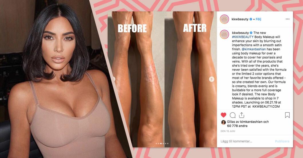 Kim Kardashian lanseras body foundation på KKW Beauty