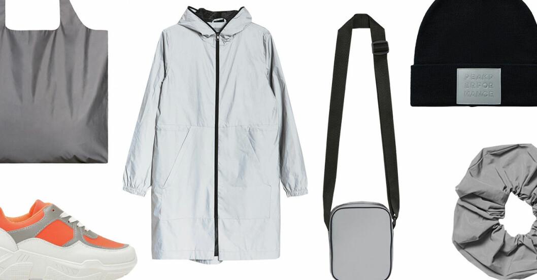 Kläder med reflexer – jackor, mössor, väskor, skor