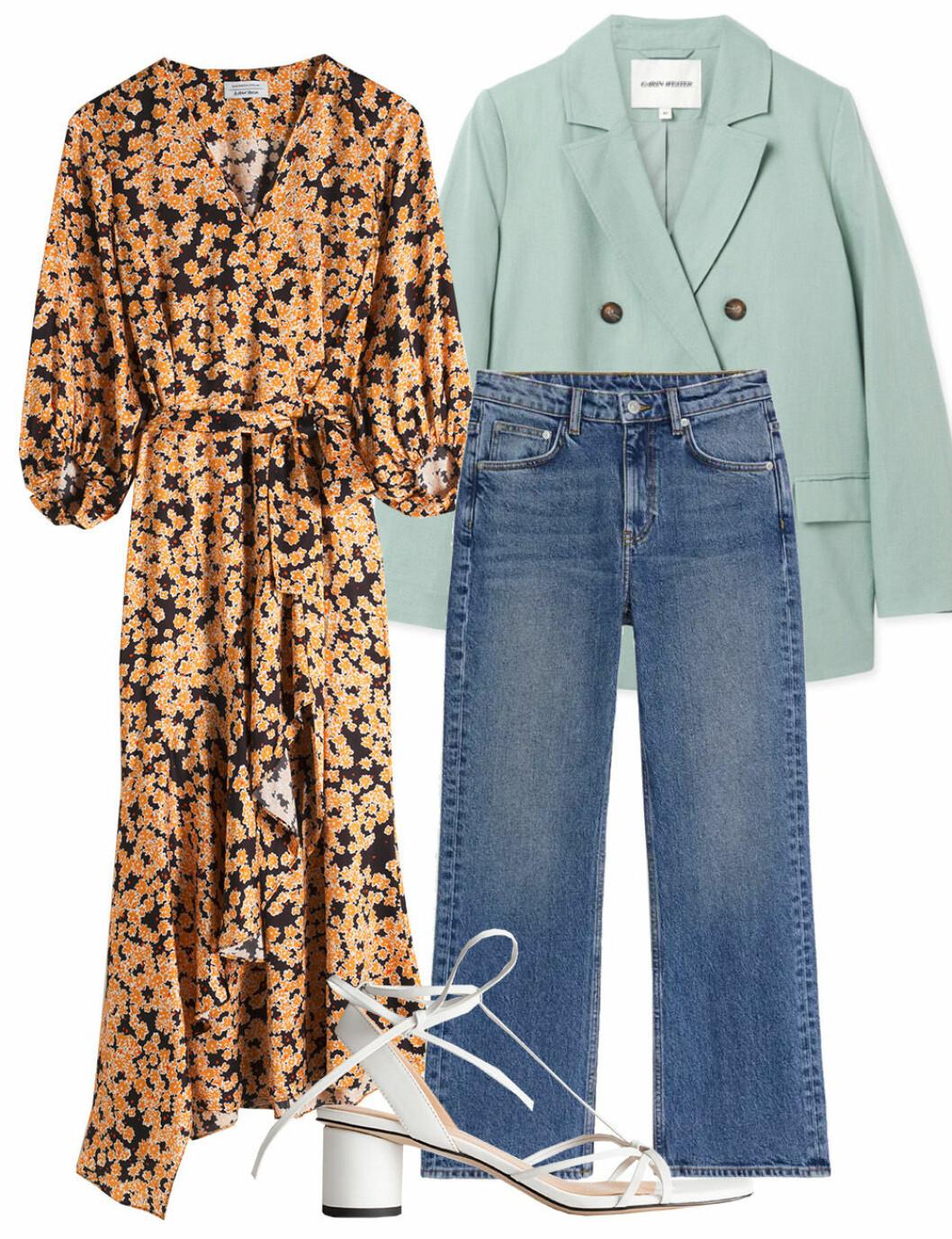 Klänning och jeans till midsommar om det är kallt ute