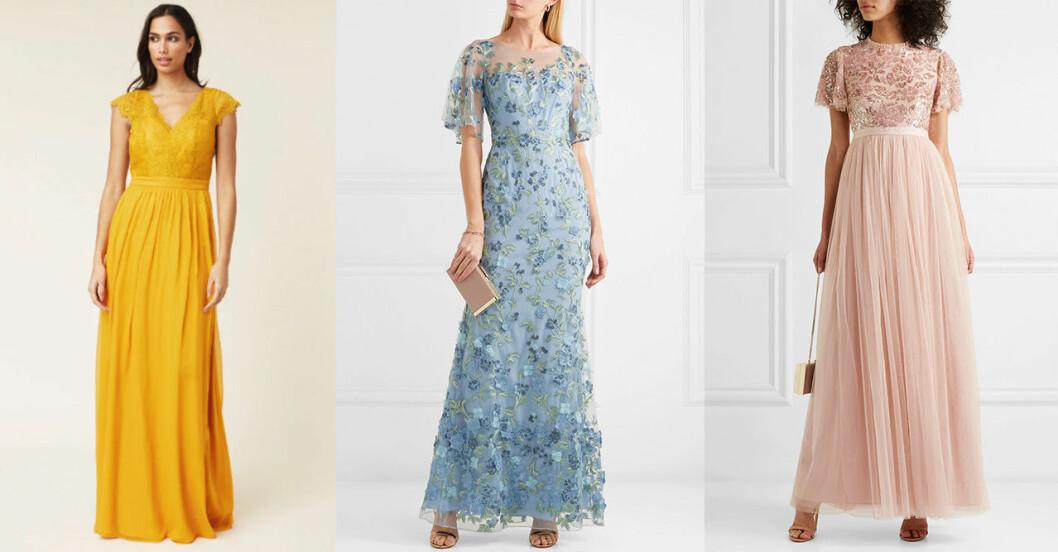 Klädkod frack bröllop –klänningar