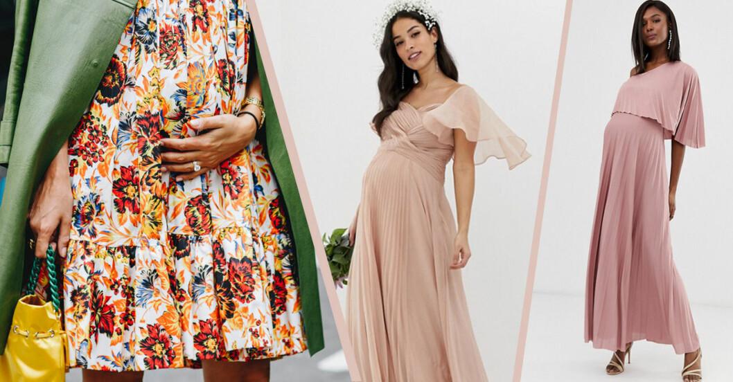 Klänning för gravid till bröllop 2019
