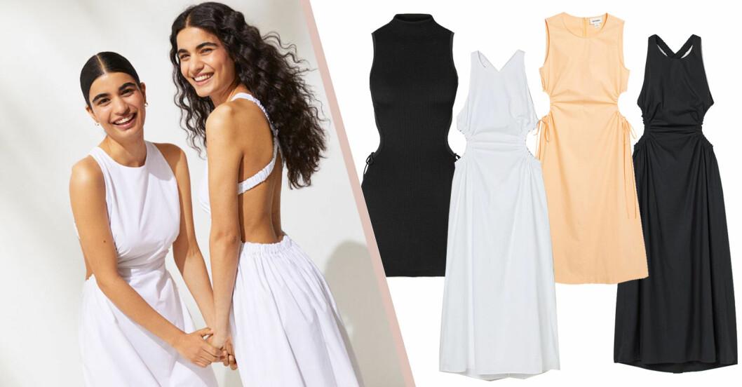 klänning med cutout