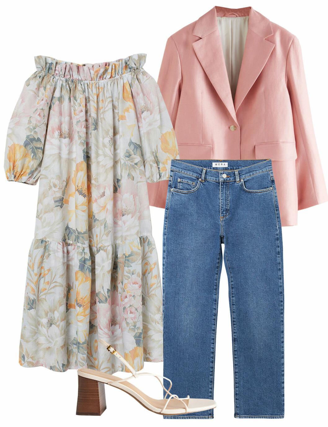 Midsommarkläder när det är kallt – klänning ochjeans