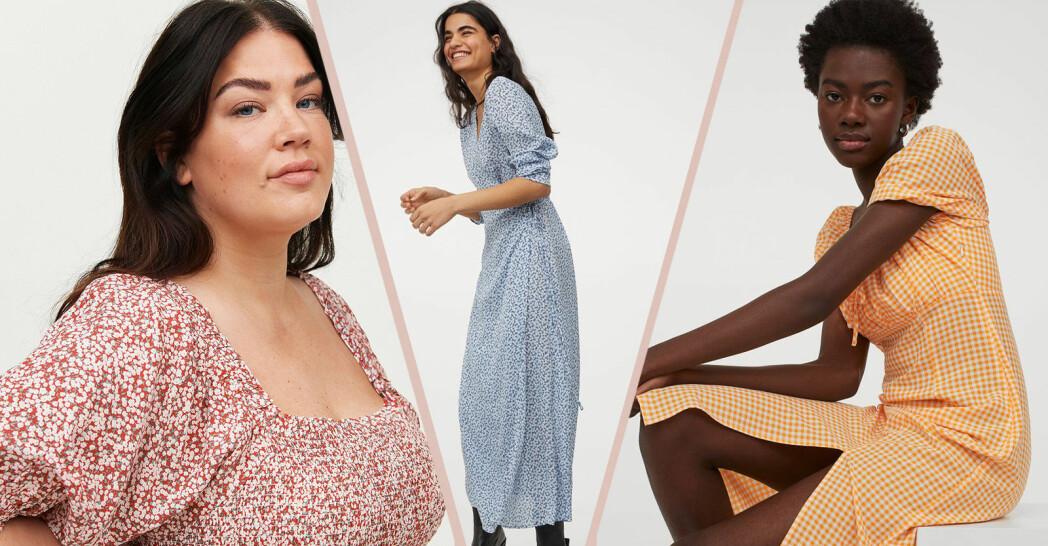 mönstrade klänningar våren och sommaren 2021