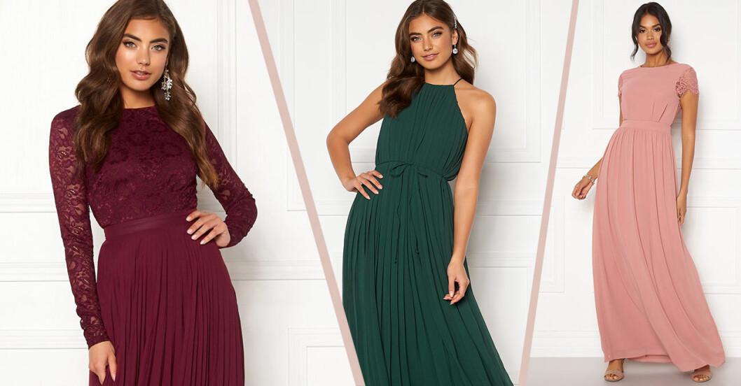 Klänningar till brudtärnan 2020 – billiga ochi olika färger