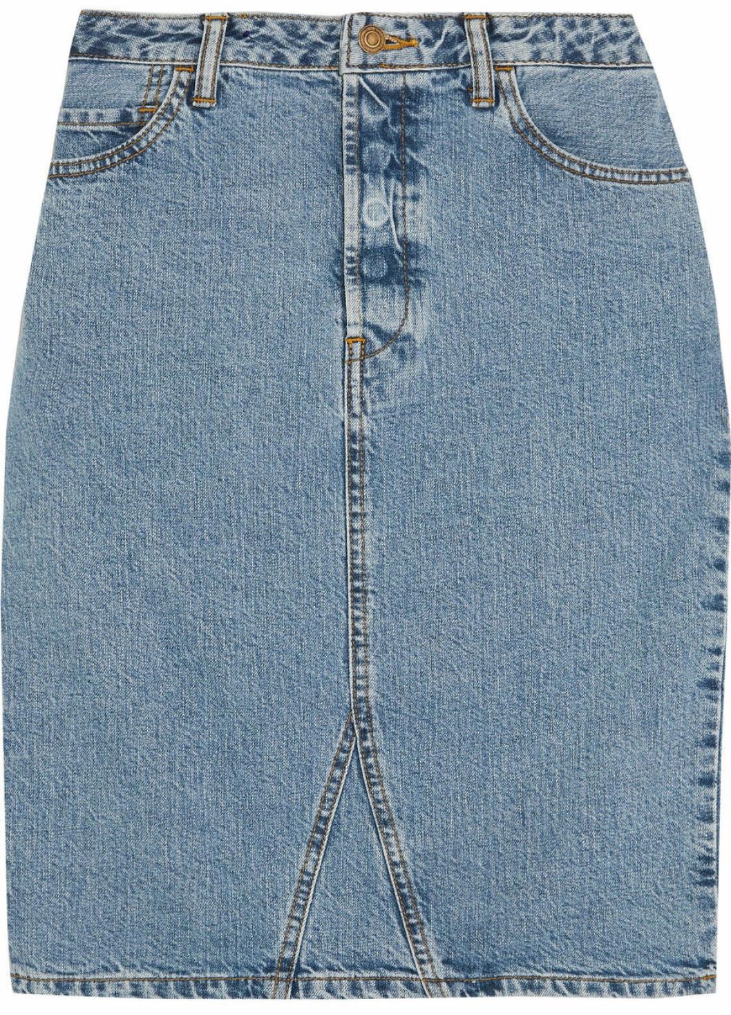 jeanskjol outfit klassisk