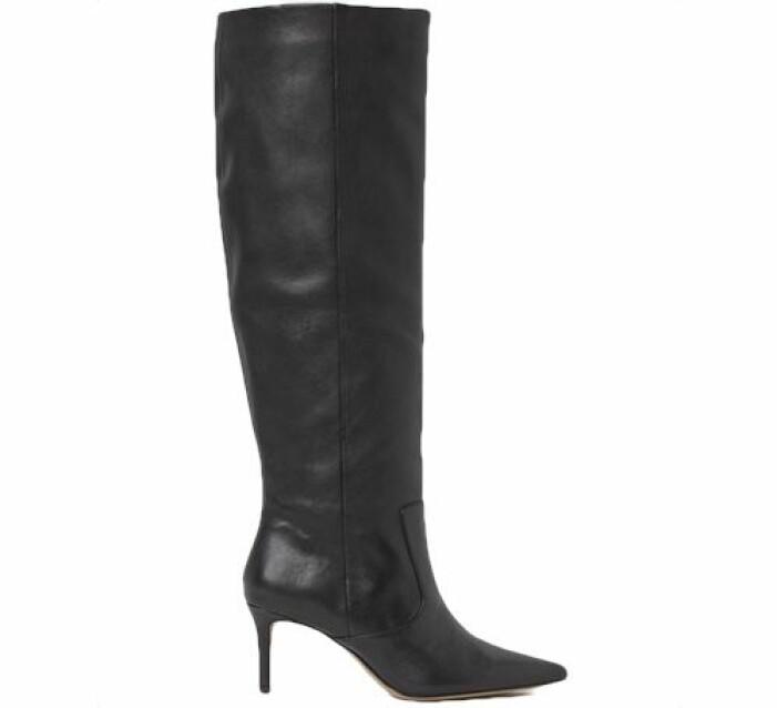 Knähöga läderstövlar från H&M
