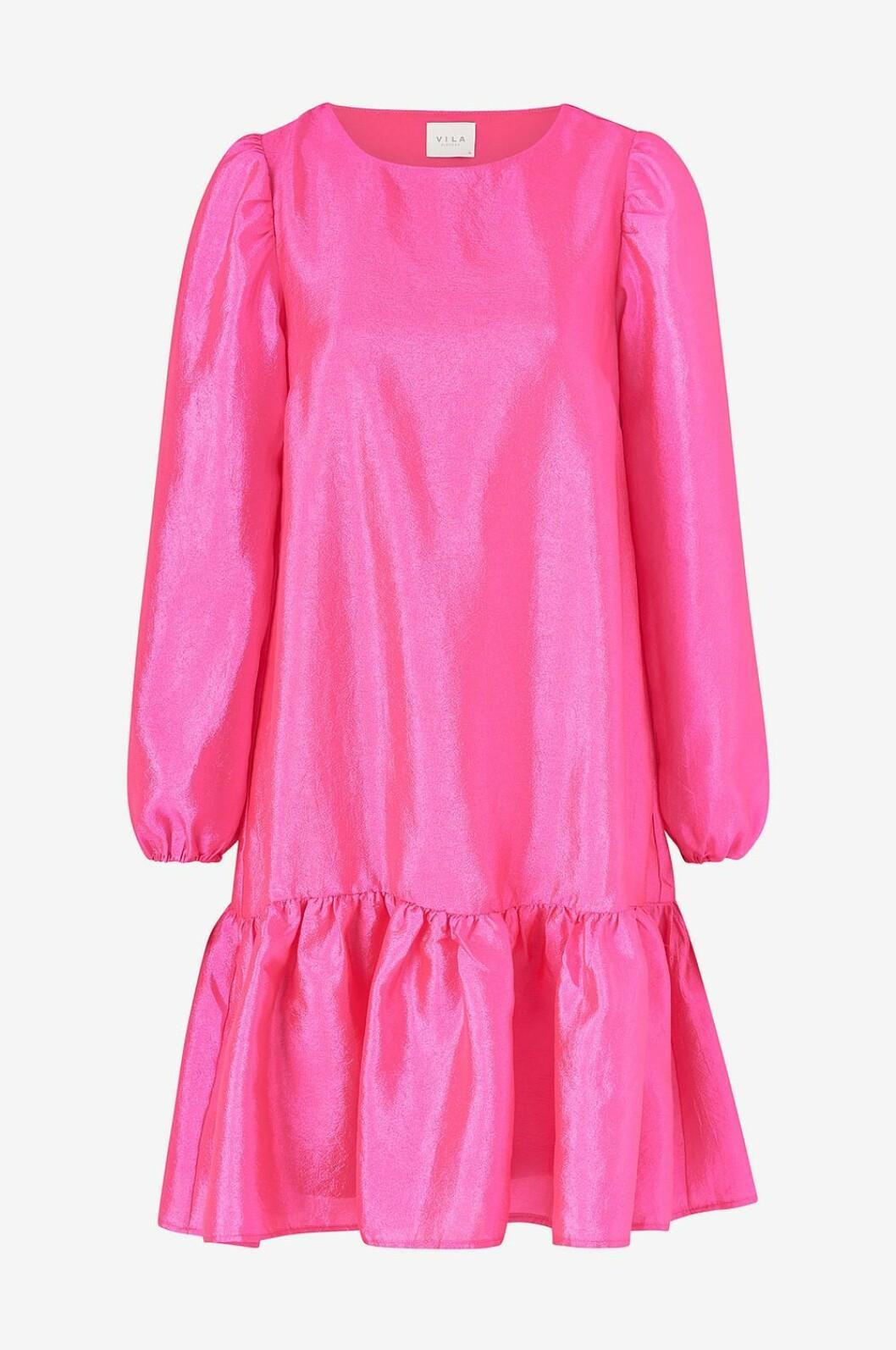 Rosa klänning med lång ärm för dam till 2019