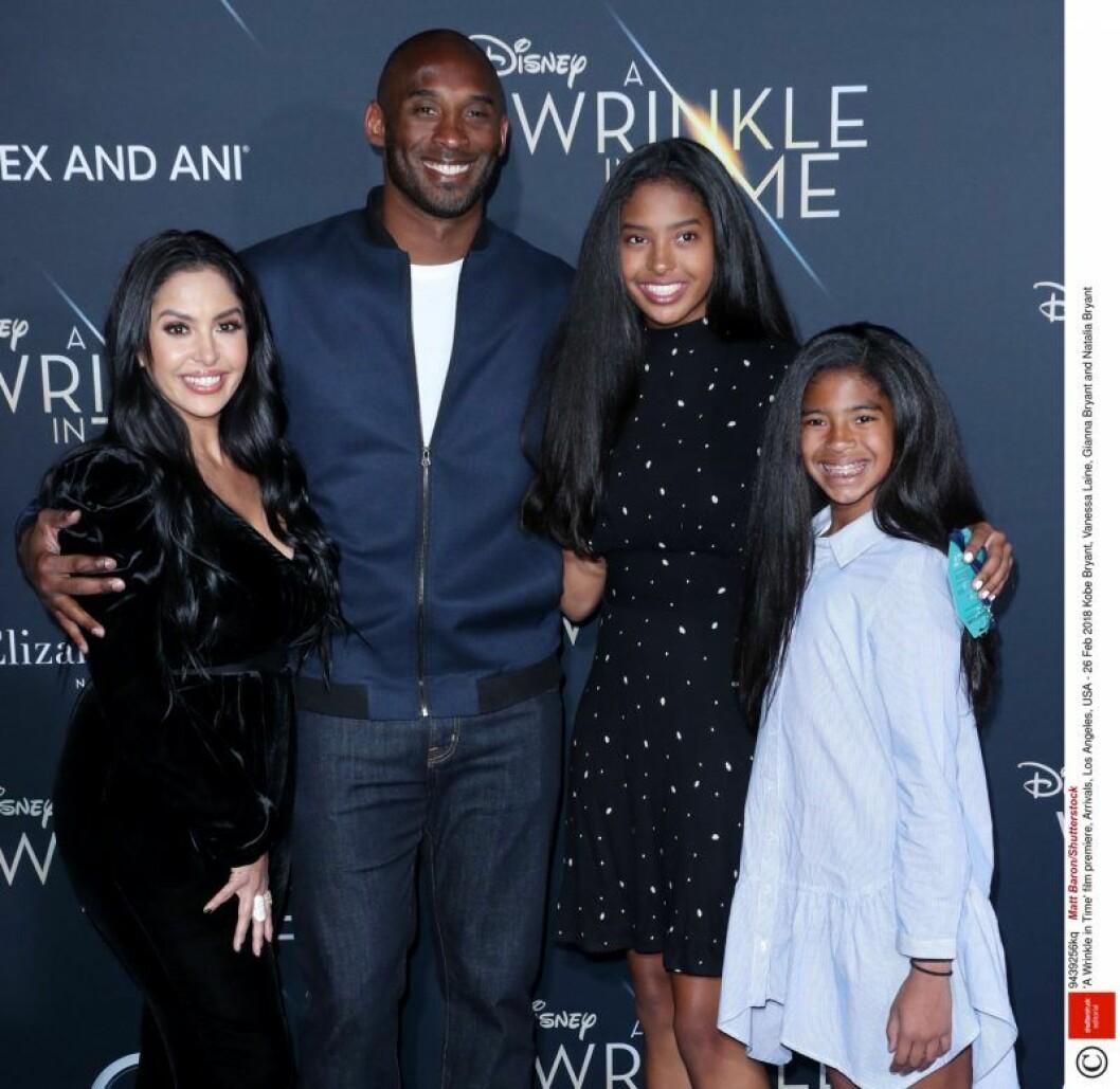 Kobe Bryant med familj