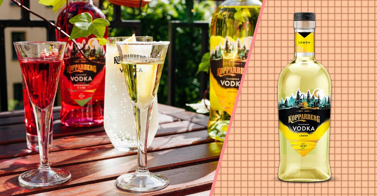 Kopparberg vodka i snapsglas