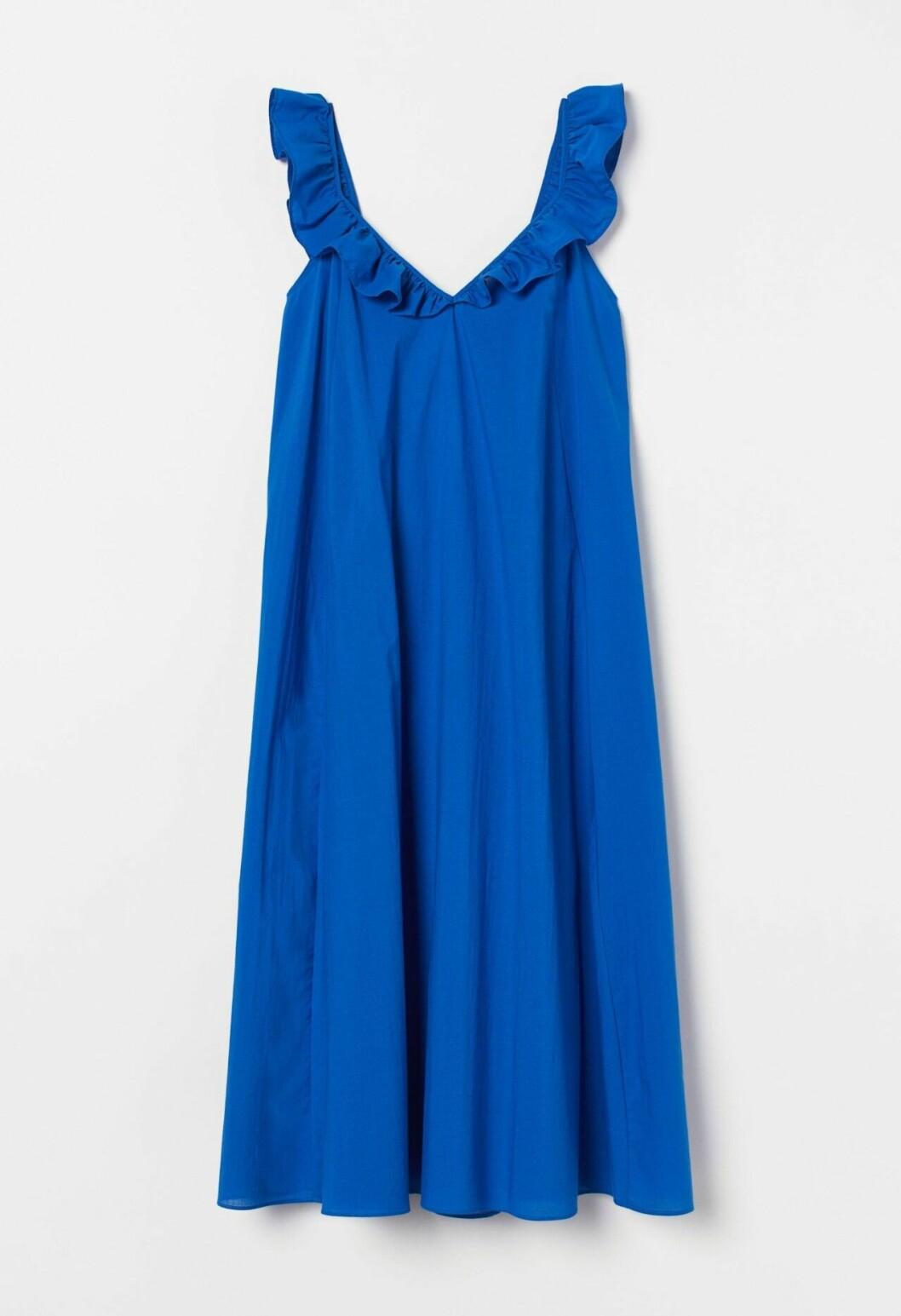 Kornblå sommarklänning från H&M