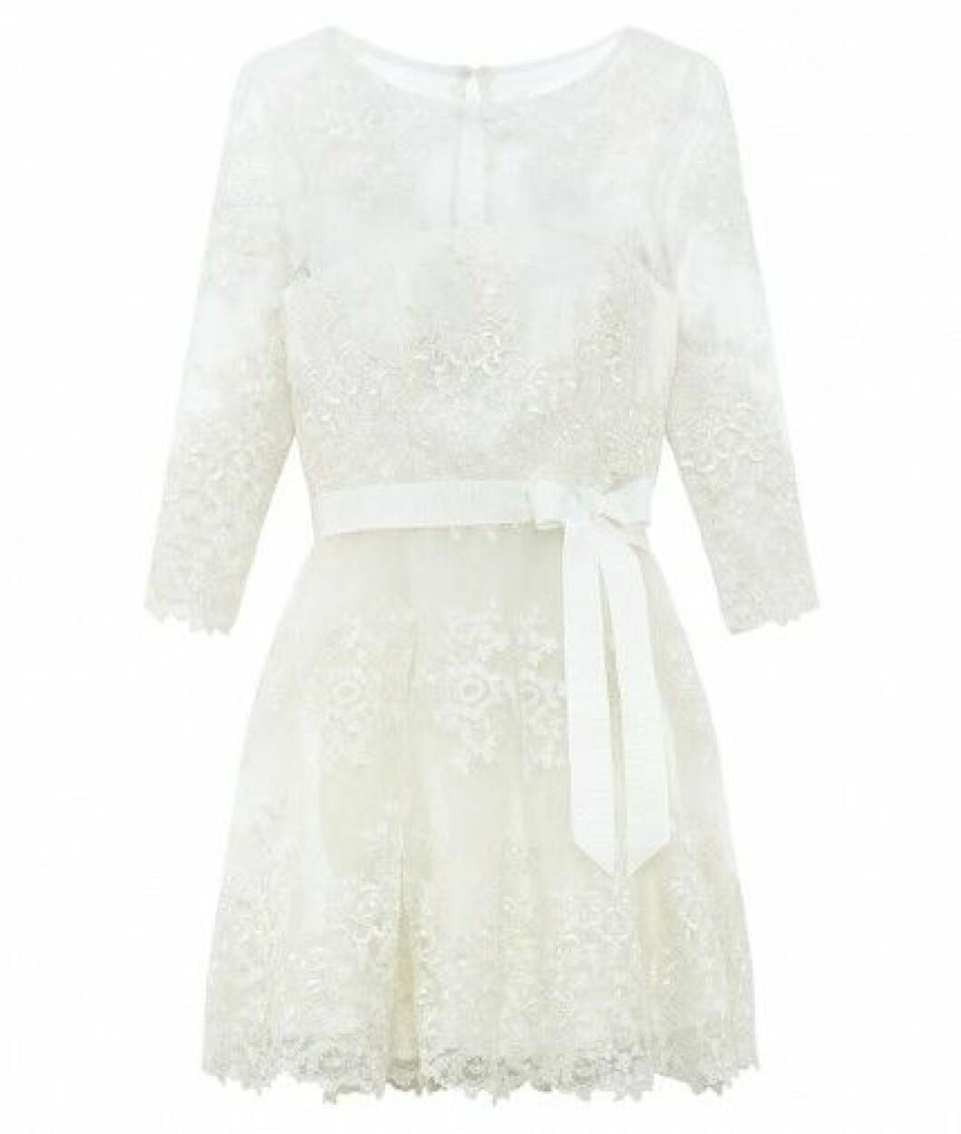 kort snygg bröllopsklänning