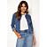 Jeansjacka i kortare modell