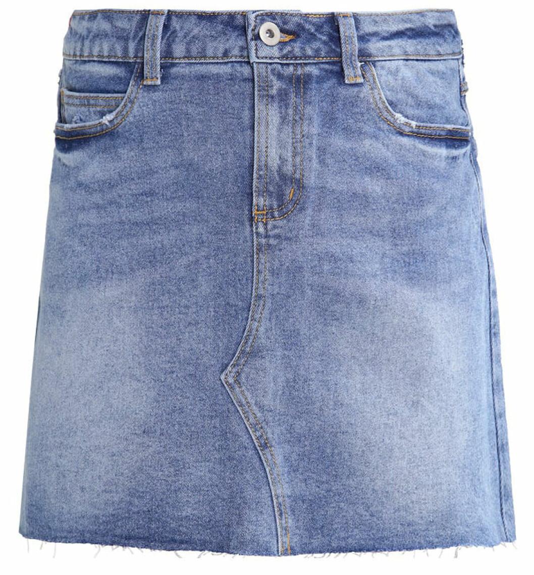 kort jeanskjol 2017 outfit