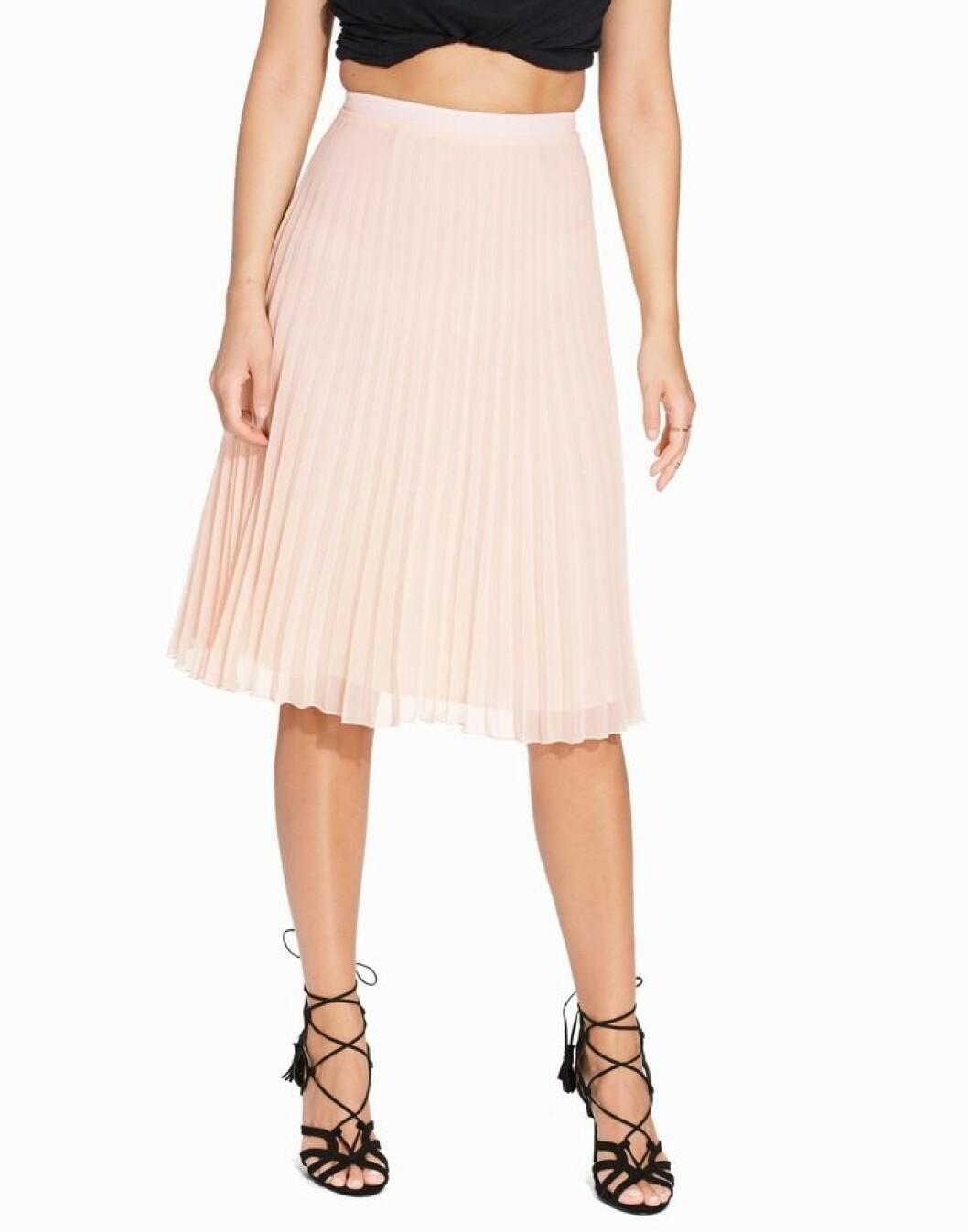 kort plisserad kjol