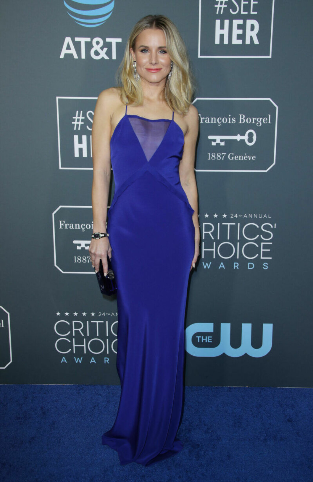 Kristen Bell på röda mattan på Critics Choice Awards 2019