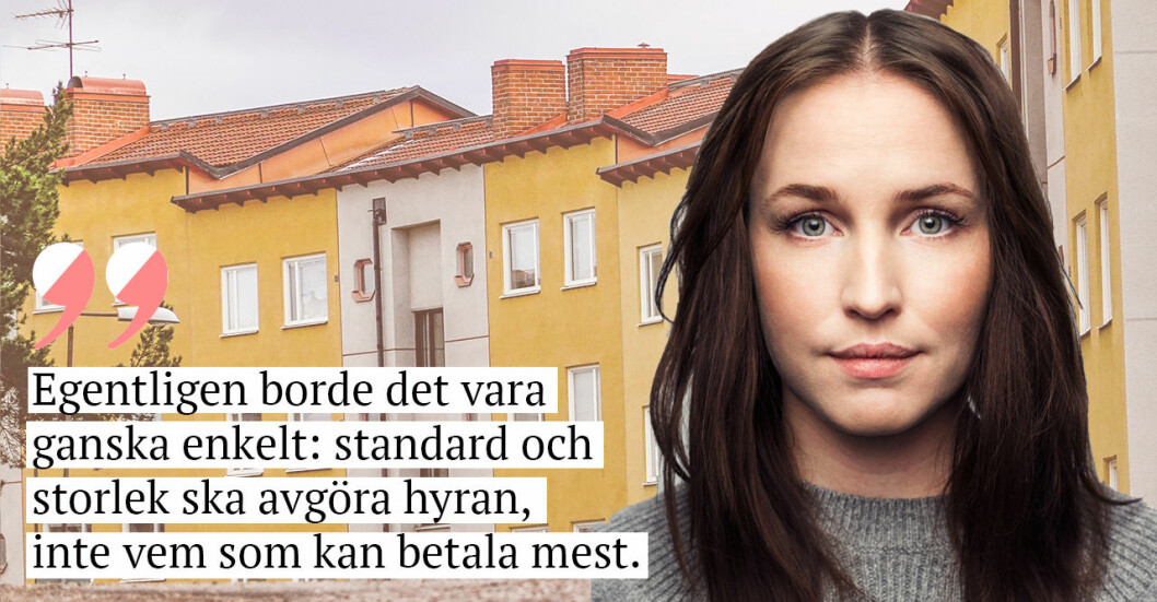 """Sofia Börjesson på Baaam och citatet: """"Egentligen borde det vara ganska enkelt: standars och storlek ska avgöra hyran, inte vem som kan betala mest."""""""