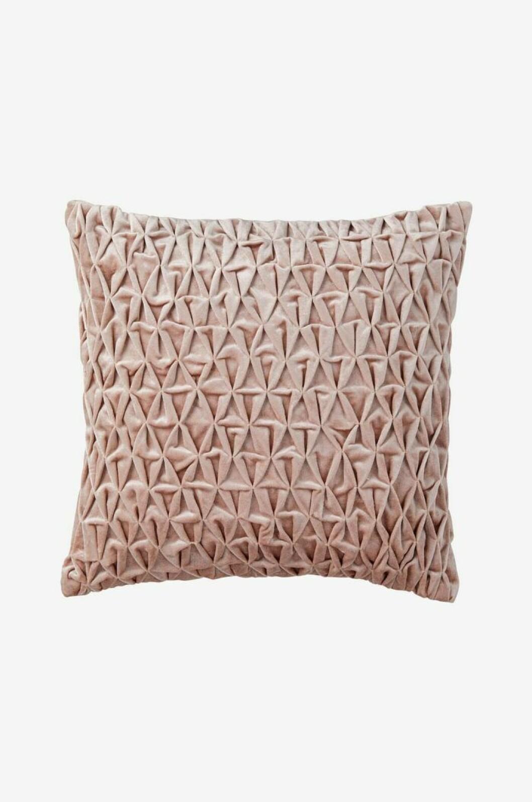 Kuddfodral rosa sammet
