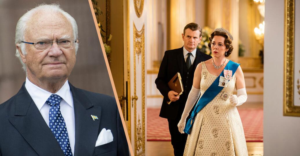 kungens liv blir svensk the crown