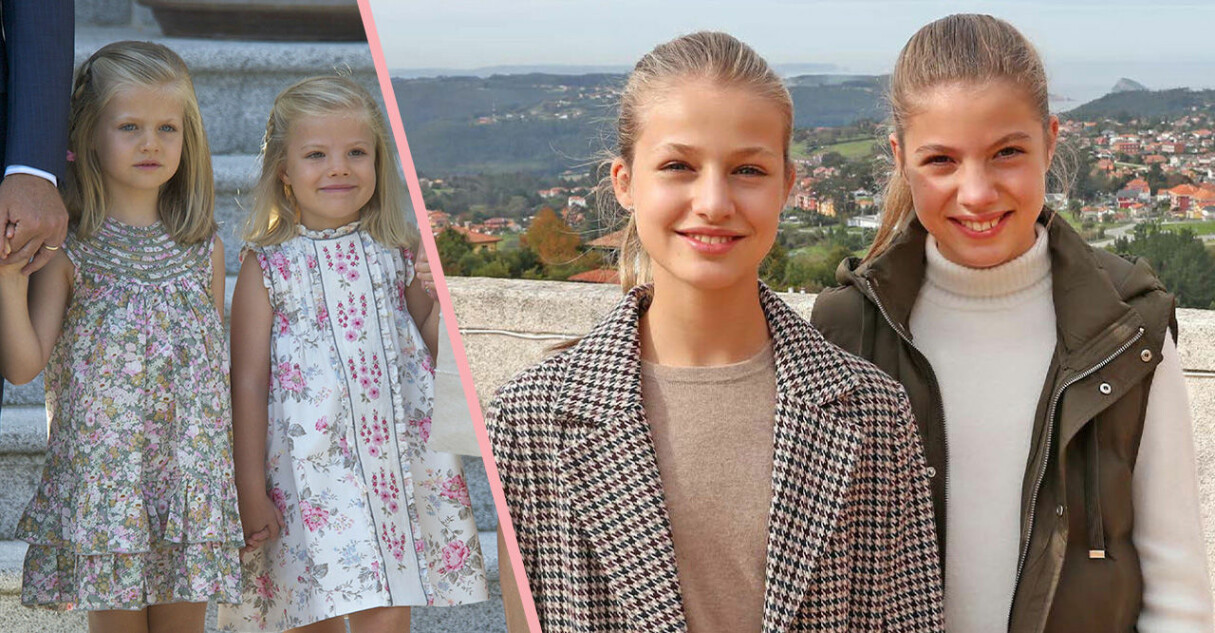 prinsessan sofia och prinsessan leonor av spanien som barn och som tonåringar
