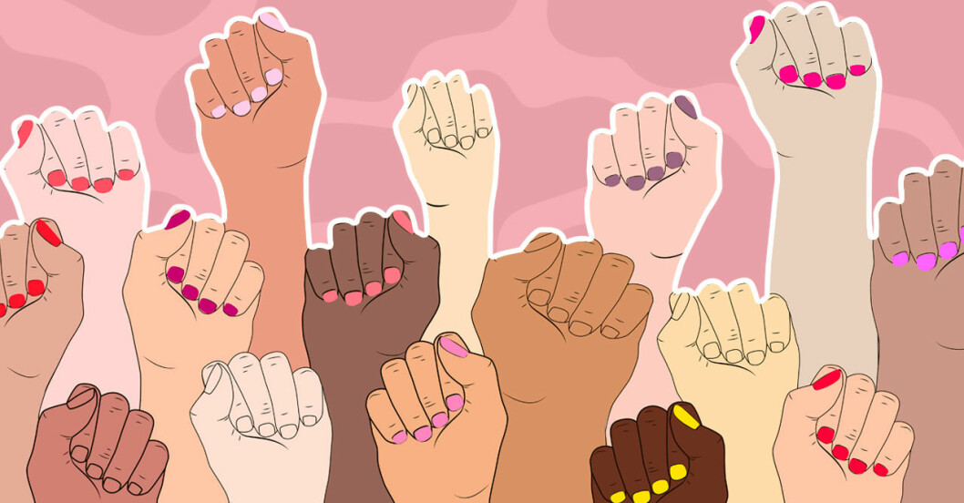 Kvinnors knutna händer i kampen för rösträtt runtom i världen.