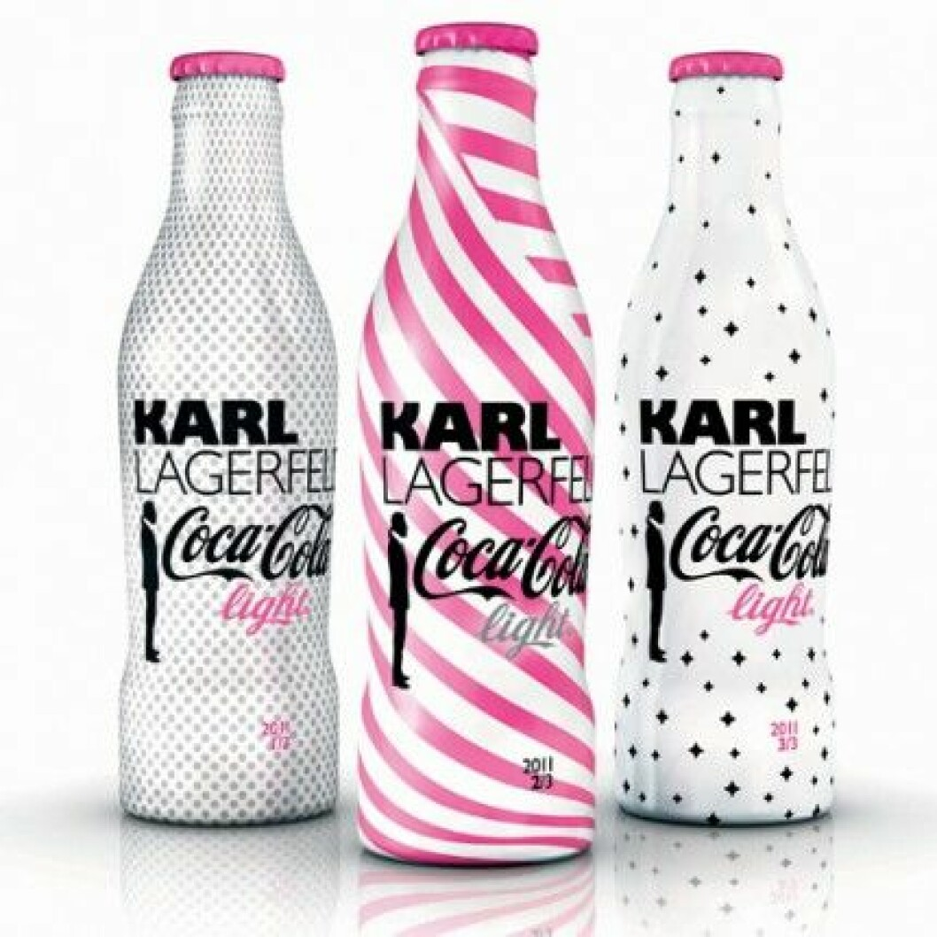 Coca-Cola light Limited Edition Collection by Karl Lagerfeld.