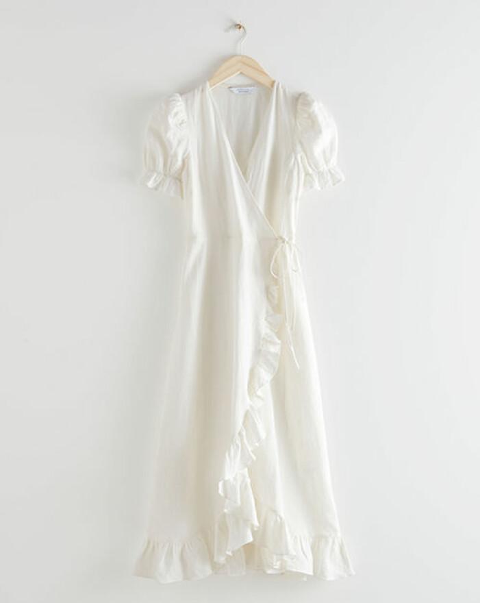 lång vit studentklänning