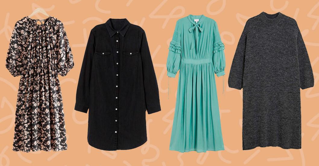 Långärmade klänningar