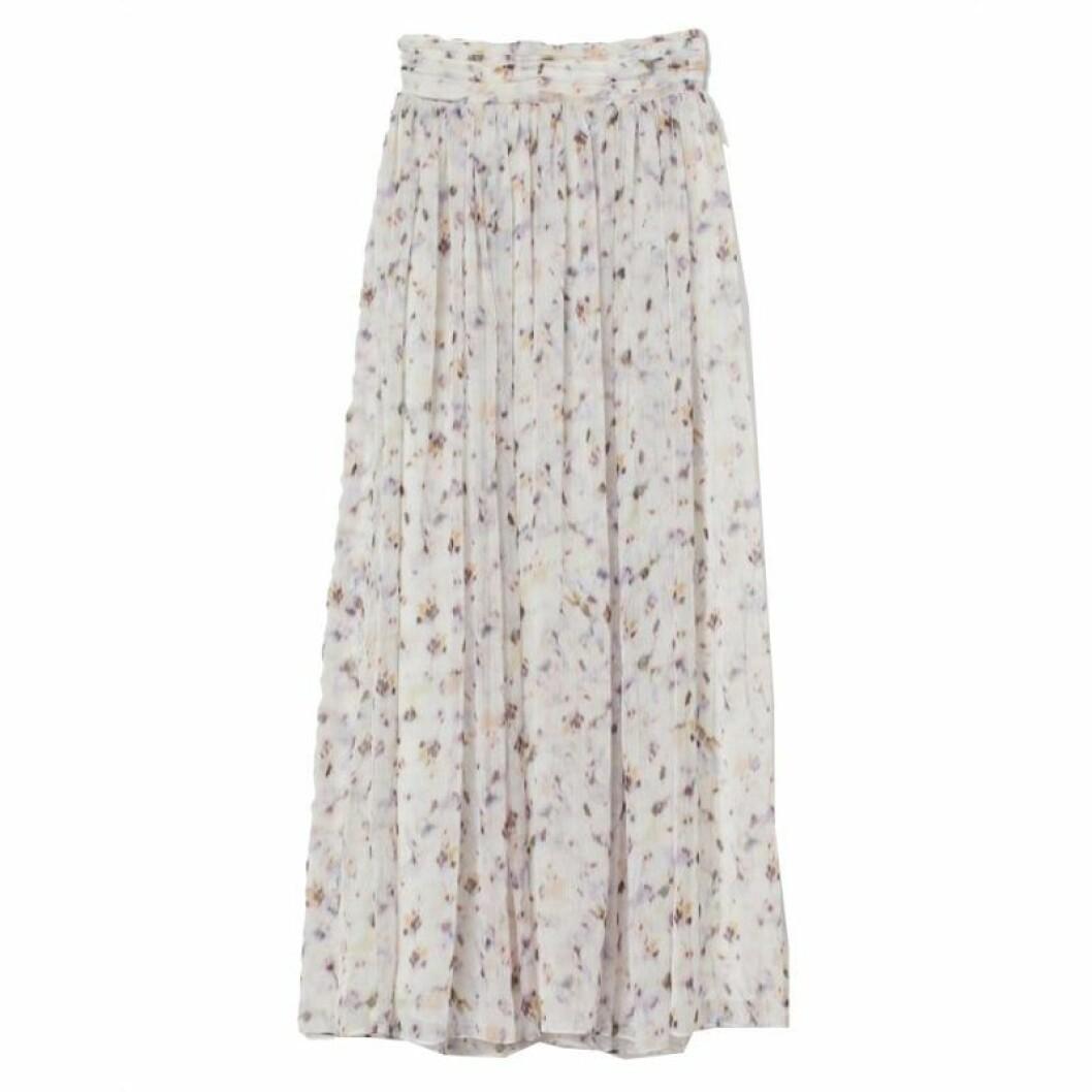 maxikjol med blommigt mönster från H&M