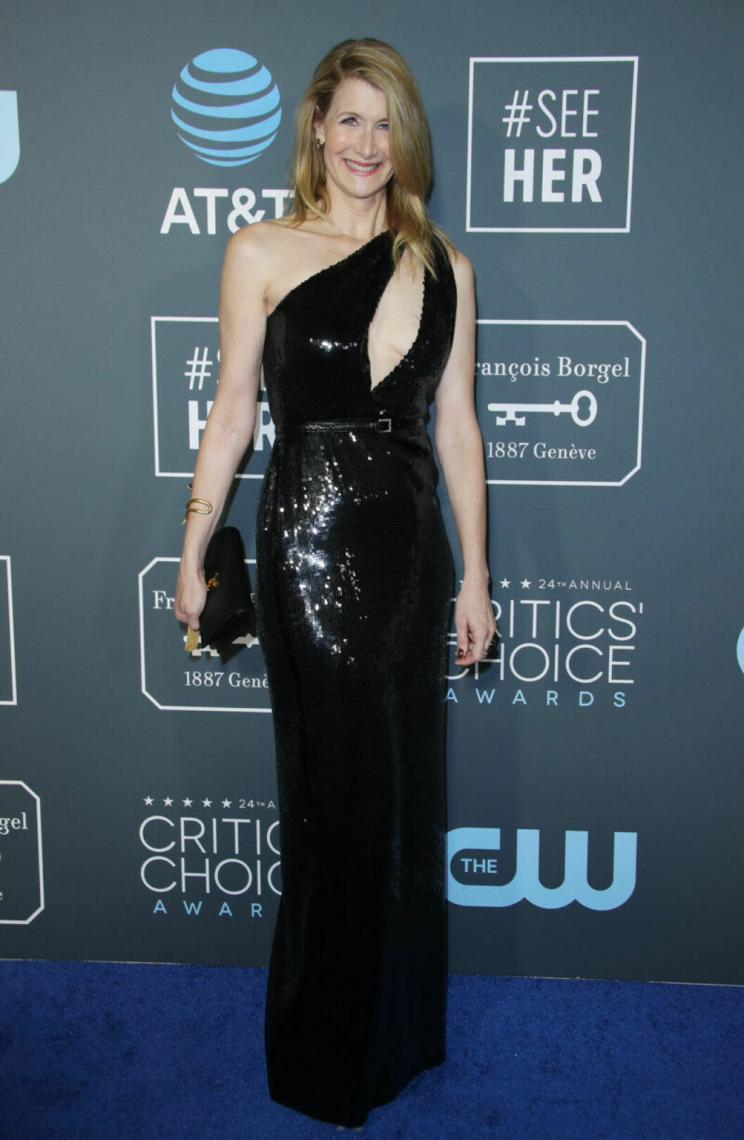 Laura Dern på röda mattan på Critics Choice Awards 2019