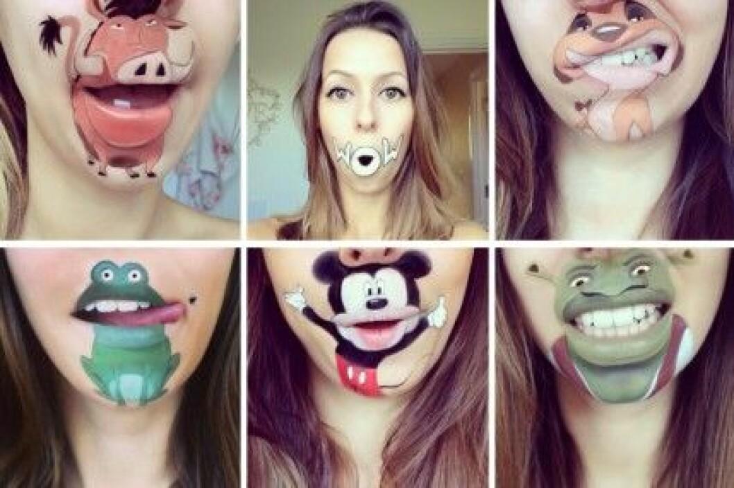 Laura Jenkinson målar teckande karaktärer runt munnen. Hur kul som helst!