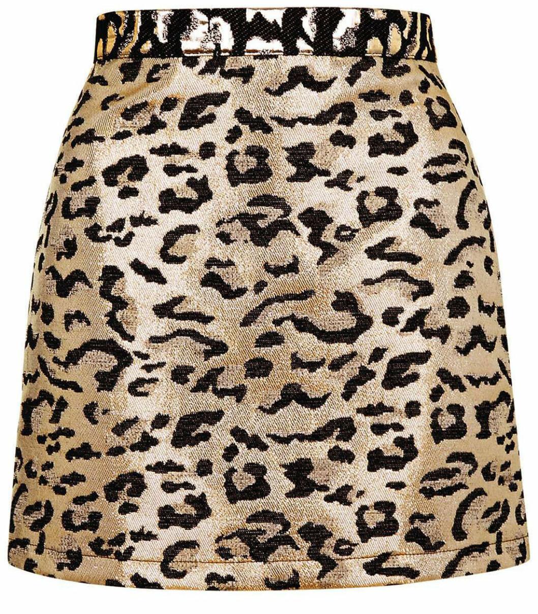 leopard kjol metallic