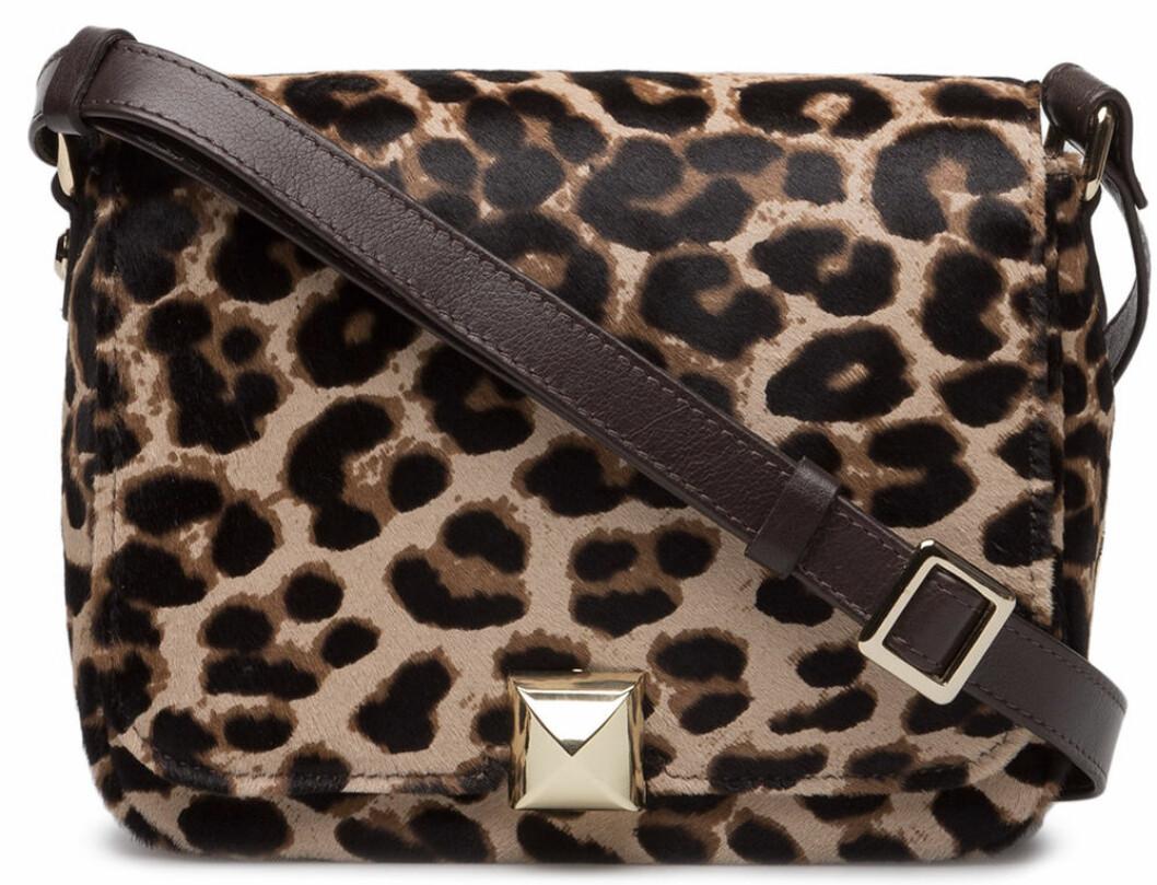 leopard väska axelrem