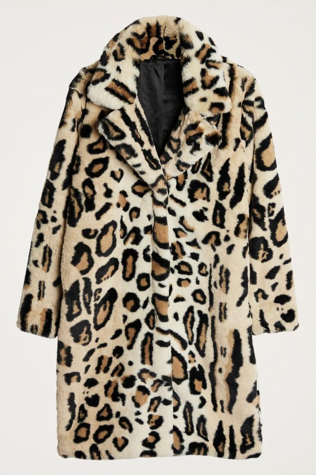 Leopardmönstrad fuskpäls till vintern