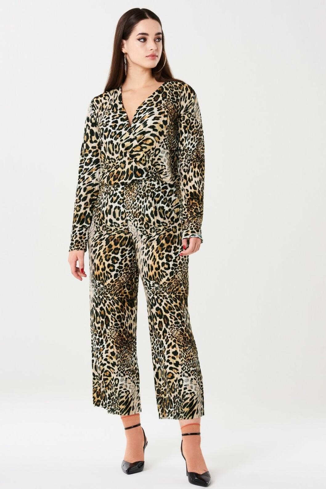 Leopardmönstrad jumpsuit