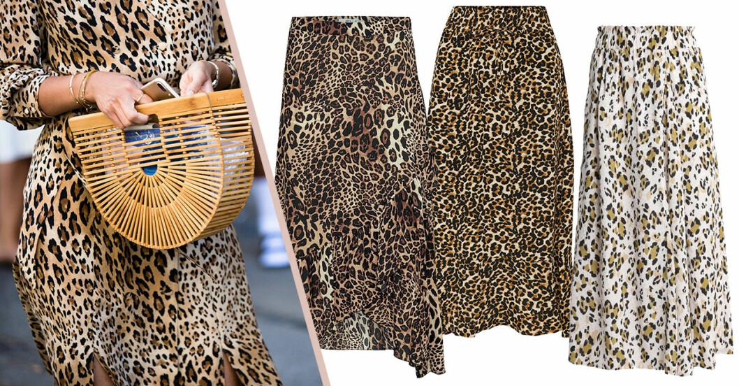 Leopardmönstrade kjolar