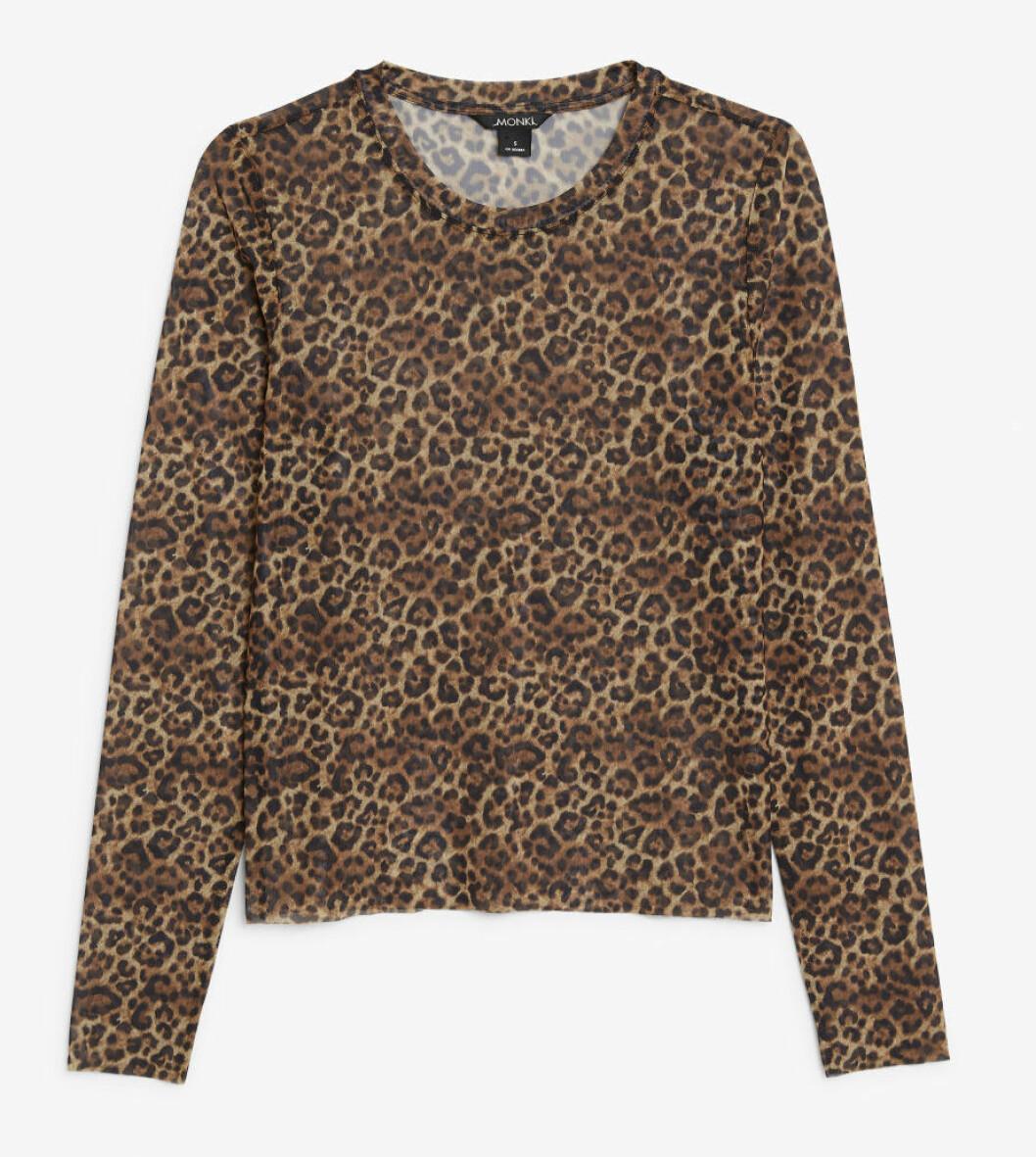 Leopardmönstrad topp