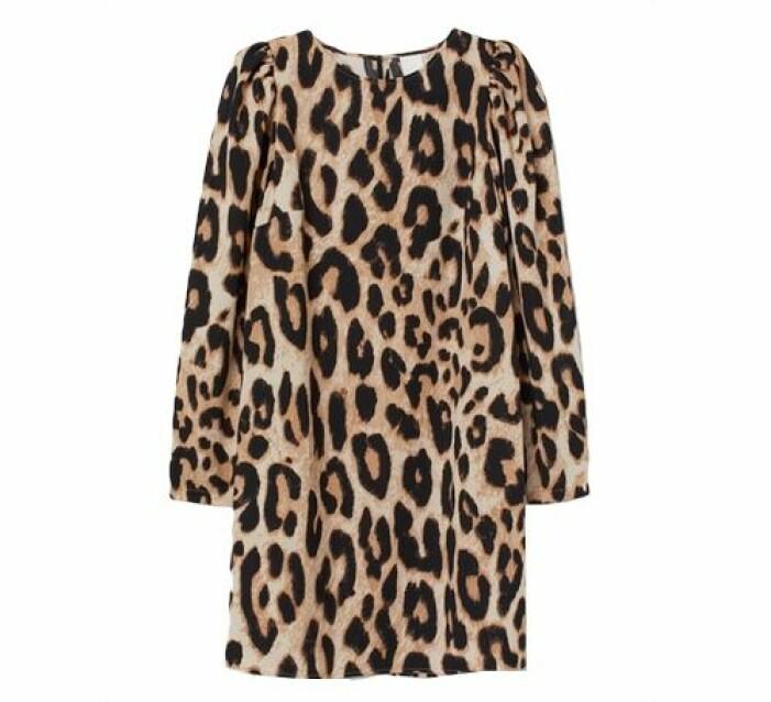 Leopardsklänning med puffarm från H&M