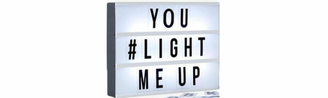 Lightbox med LED-belysning, 139 kronor.