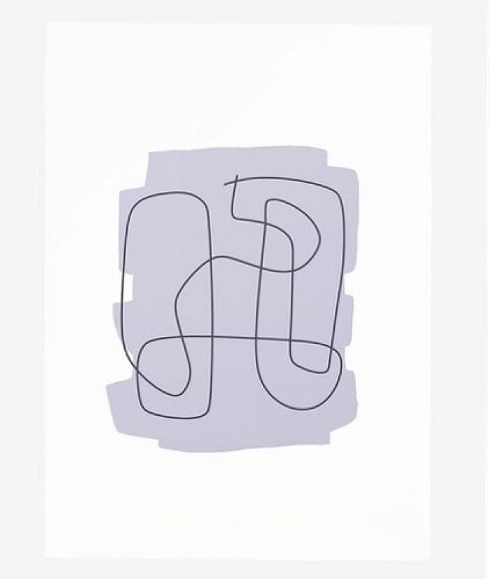 Lila inredning tavla poster