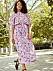 Lila blommig klänning till bröllop 2019