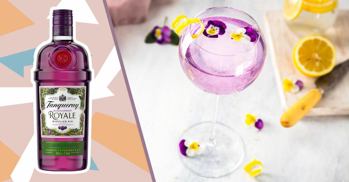 lila gin och drink