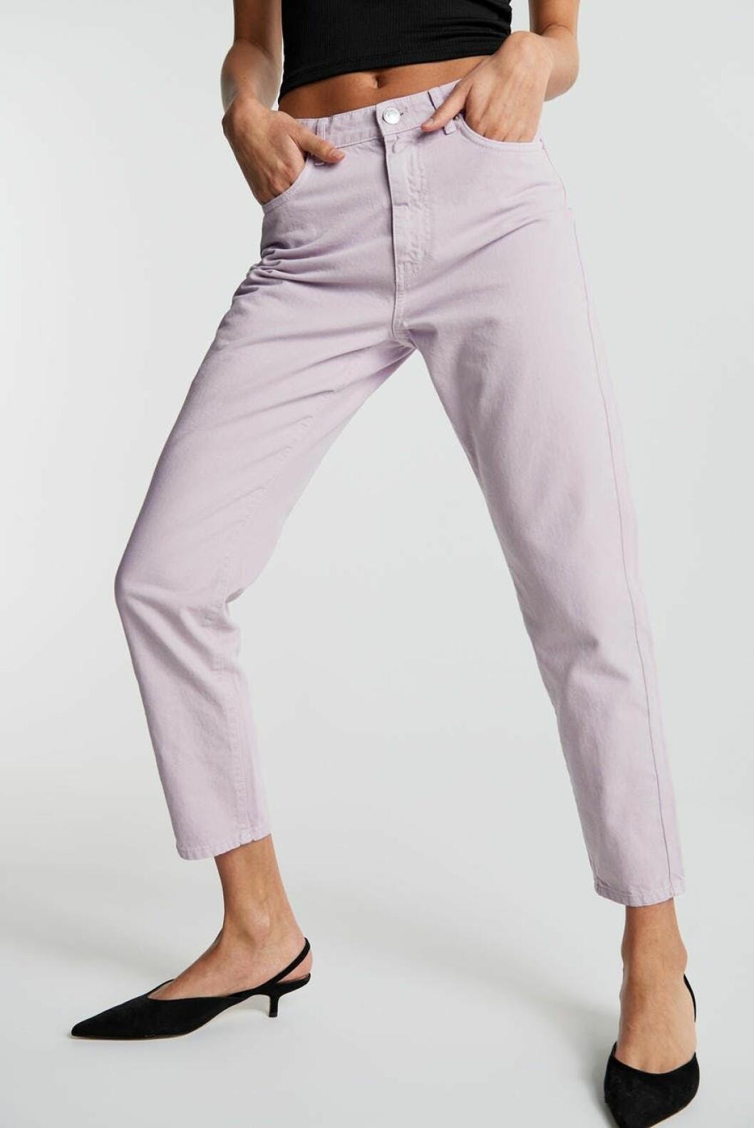 Lila jeans för dam från Gina tricot