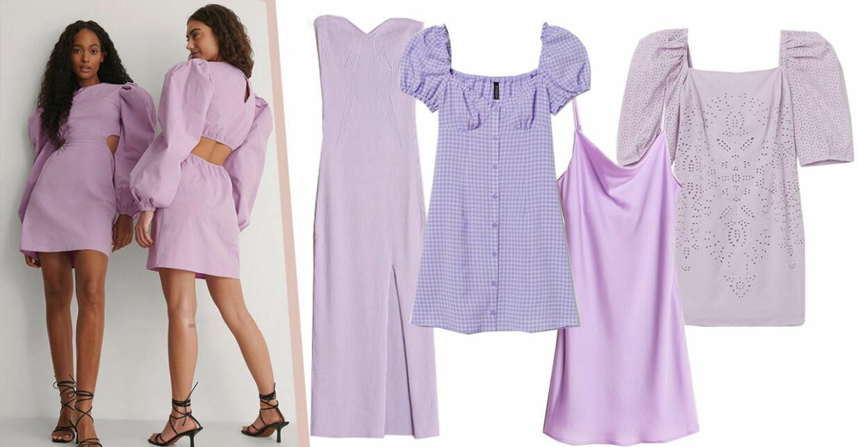 lavendellila klänningar för dam 2021