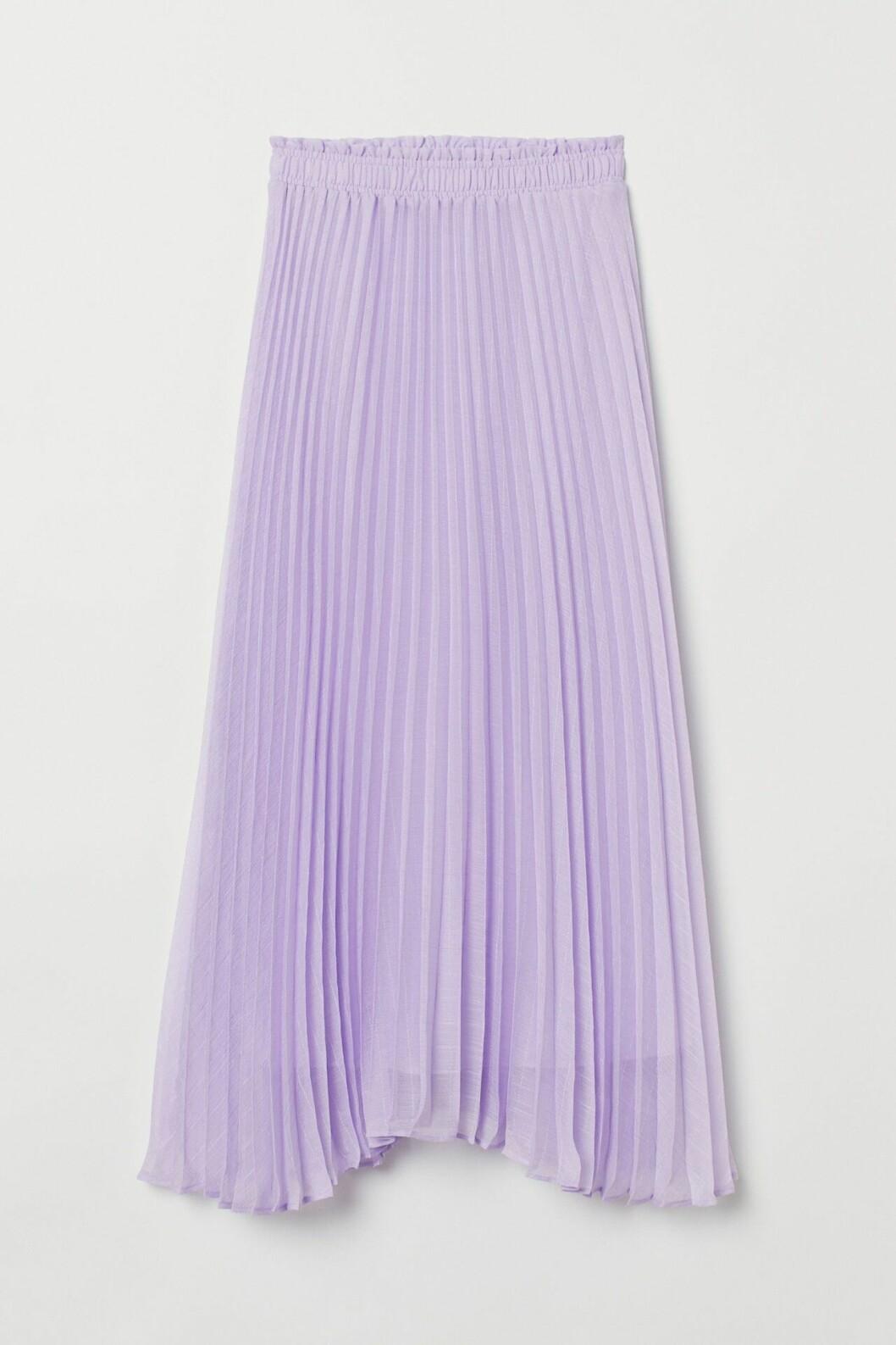 Lila, plisserad midikjol för dam från H&M