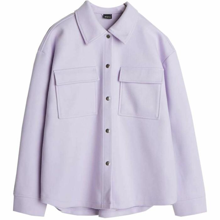 lila skjortjacka gina tricot