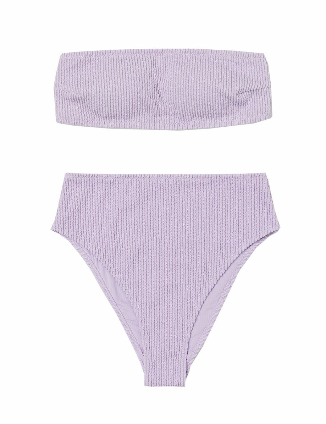 Lila bikini med hög midja för dam till 2020